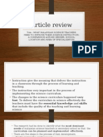 article review 2015