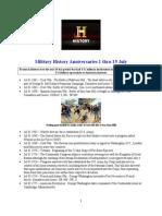 Military History Anniversaries 0701 Thru 071515
