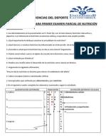 Guía de Ejercicios Para Primer Examen Parcial de Nutrición Deportiva