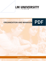 Organization and Management Process