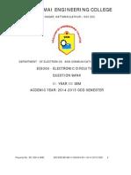 EC6304 Electronic Circuits I