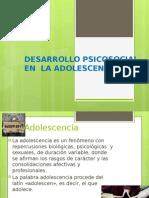 Desarrollo Psicosocial de La Adolescencia