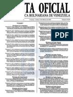 Sumario Gaceta Oficial 39.367
