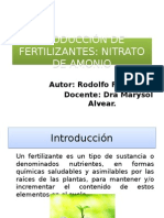 Produccion de Fertilizantes