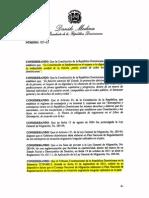 Decreto 327-13 Plan Nacional de Regularización de Extranjeros