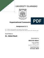Communucation Organization