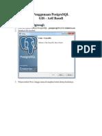 Penggunaan PostgreSQL