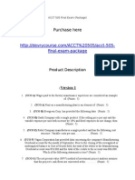 ACCT 505 Final Exam (Package)