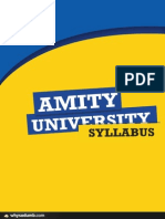 B. Tech ECE Amity Syllabus
