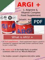 ARGI + L- Arginine & Vitamin Complex Food Supplement