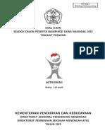 Soal OSP Astronomi 2015