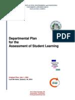 PLAN - Departmental Student Learning Assessment Plan