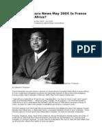 Tchameni Uhuru News May 2005 is France the Curse of Africa CFA MANIPULATION