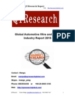 Global Automotive Wire and Cable Industry Report 2015