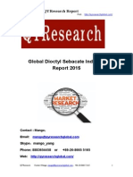 Global Dioctyl Sebacate Industry Report 2015