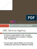 ABC Service Agency - For Reporting