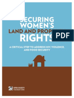 Securing Womens Land Property Rights 20140308