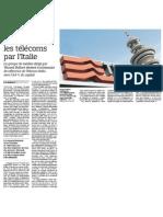 Vivendi revient dans les telecoms par l'Italie