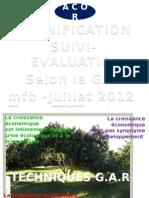 Formation en Suivi-evaluation Et Planification_gar_2012
