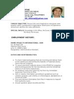 LILIBETH VILLAREAL CV