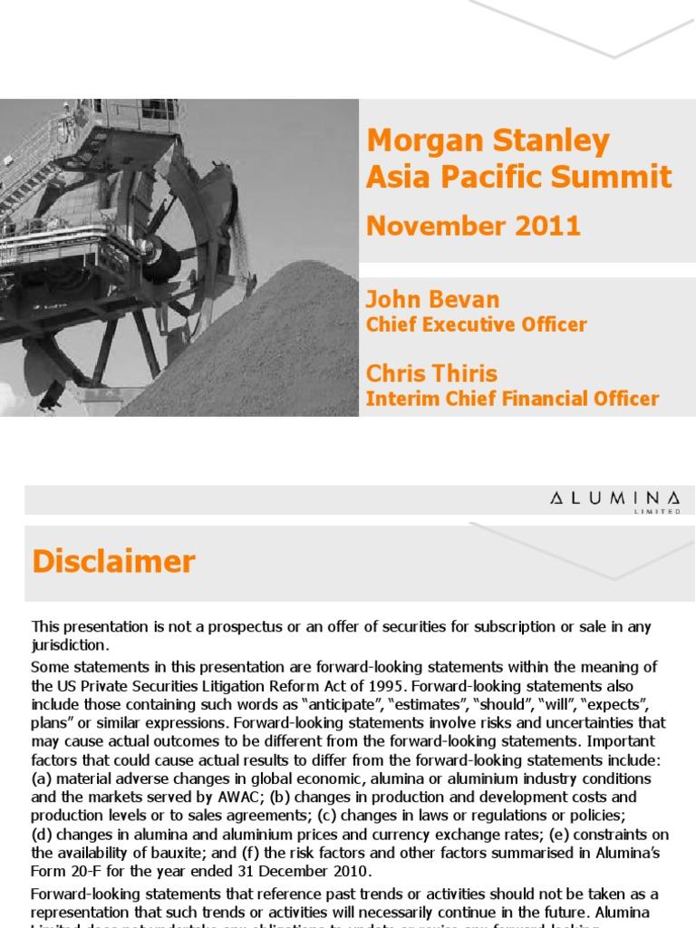 Morgan Stanley Asia Pacific Summit: November 2011