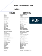 Diccionario Ingles-Español de terminos de Construcción