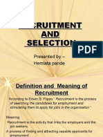 Recruitment and Selection Ppt