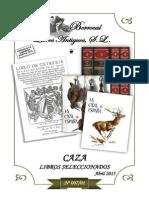 CATÁLOGO 007-01 CAZA (libros seleccionados)