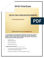 LDR 531 Final Exam Latest University of Phoenix Final Exam Study Guide