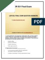 LDR 531 Final Exam Latest University of Phoenix Final Exam Study Guide