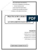 Informe de Practicas de Accionamiento
