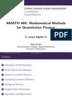 Mathematicalmethods Lecture Slides Week6 LinearAlgebraII