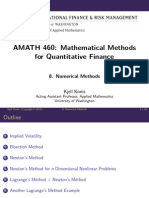 Mathematicalmethods Lecture Slides Week8 NumericalMethods