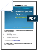 ACC 561 Final Exam Latest UOP Assignments
