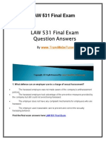 LAW 531 Final Exam Latest Question Answers