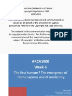 Hiscock ARCA1000 Wk 6 the First Humans the Emergence of Homo Sapiens and of Modernity(1)