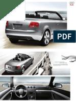 Audi A4 2009 Misc Documents- Convertible Brochure