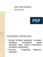 Anestesi Intravena