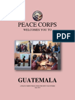 Peace Corps Guatemala Welcome Book 2015 June