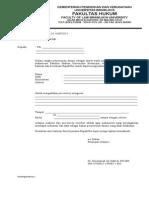 Formulir Ijin Pra Survey Skripsi