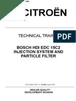 E-Book - Injection Hdi Bosch Edc 15c2 Pour Moteur Dv4Td - 153 Pp - English