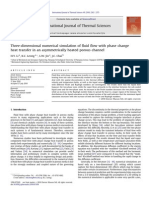 Three-dimensional Numerical Simulation of Fluid Flow With Phase Change Heat Transfer in an Asymmetrically Heated Porous Channel