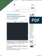 Aprenda importar coordenadas topográficas para o AutoCAD.pdf