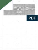 Cuestionario de Intereses Profesionales, Fogliatto