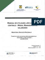 Modul de Utilizare a Aplicatiilor Centrale - Modul Managementul Salarizarii