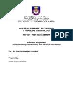 Money Laundering Regulation and Risk Based Decision-Making