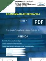 Economia Da Engenharia 1 - Tópico 7