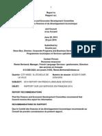 Rapport 2014 des services en français de la Ville d'Ottawa