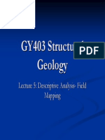 GY403 Lecture5 DescriptiveAnalysis GeologicMapping