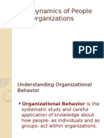 Dynamics of People and Organization
